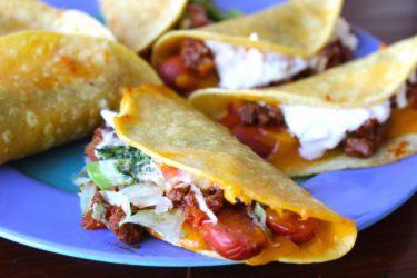 Mexican Taco Dogs Recipe. Taco Hot Dogs (Perritos Calientes)