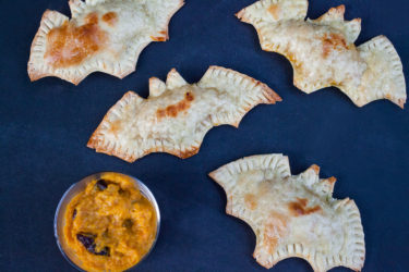 Bat Pumpkin Empanadas, photo by Hispanic Kitchen