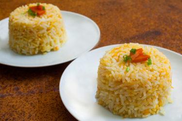 Carrot and Onion White Rice, photo by Hispanic Kitchen