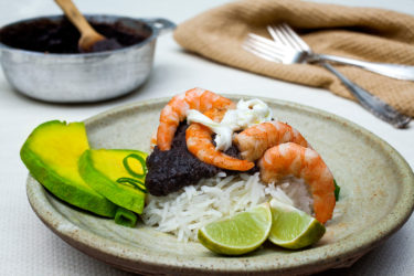 Shrimp and Black Bean Rice Recipe, photo by Santiago Gomez de la Fuente