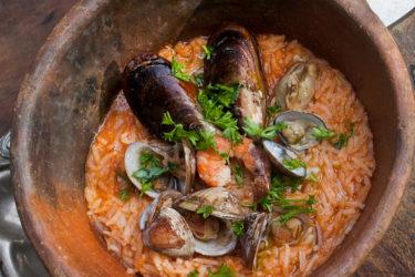 Arroz Caldoso de Mariscos (Seafood Rice), photo by Santiago Gomez de la Fuente