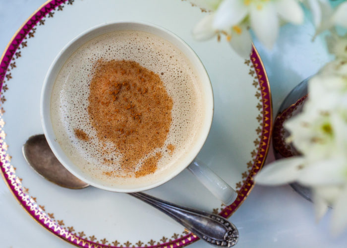 Cafe Con Leche (Abuela's Coffee with Milk), photo by Sonia Mendez Garcia