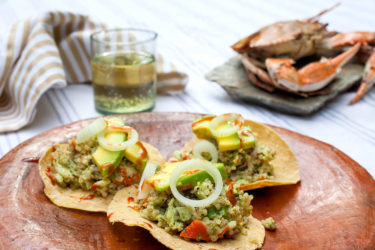 Crab and Quinoa Tostada