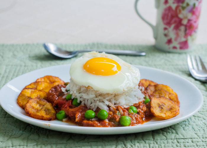 Arroz a la cubana, photo by Santiago Gomez de la Fuente