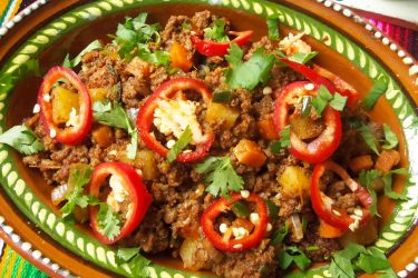 Beef Chorizo Picadillo for Taquitos, Chimichangas and Poppers