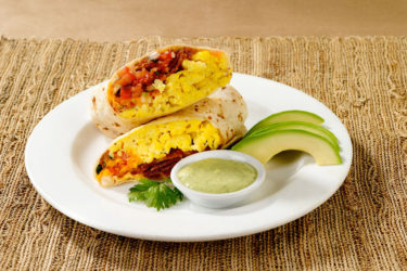 Breakfast Burrito With Avocado Buttermilk Dressing