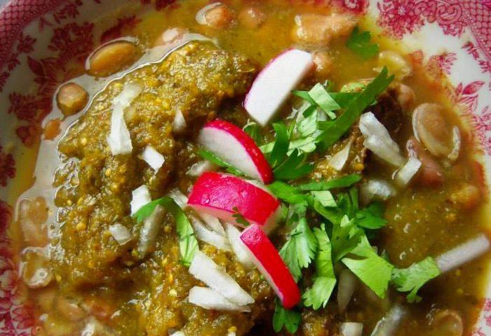 Carne en su Jugo (Braised Beef in a Tomatillo Broth), photo by Sonia Mendez Garcia