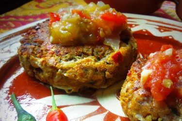 Cheese Masa Cakes with Toasted Cumin and Lime
