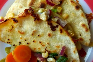 Corn Salsa Quesadillas, photo by Sonia Mendez Garcia