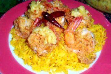 Crispy Shrimp With Pineapple Habanero Salsa