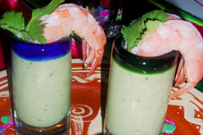 Jumbo Shrimp With Avocado Dip, photo by Sonia Mendez Garcia