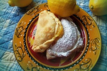 Lemon Curd Toasted Coconut Empanadas, photo by Sonia Mendez Garcia