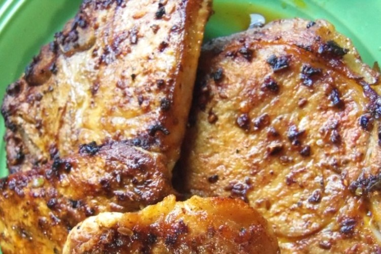 Marinated Pork Chops With Annatto