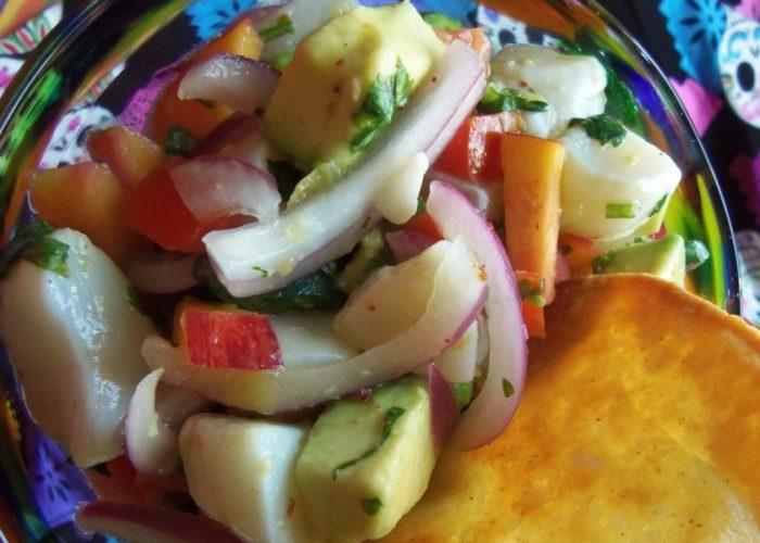 Scallop Ceviche, photo by Sonia Mendez Garcia