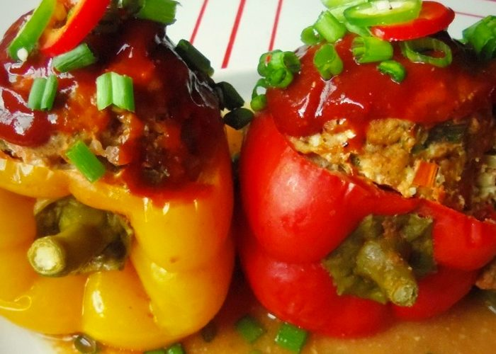 Slow-Cooked Stuffed Peppers, photo by Sonia Mendez Garcia