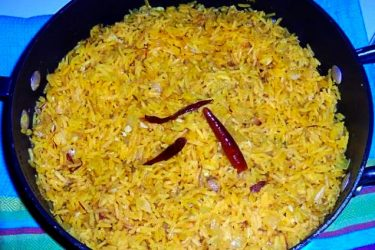 Yellow Saffron Rice, photo by Sonia Mendez Garcia