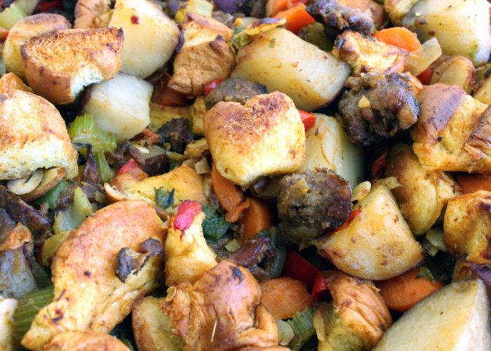 Mexican Chorizo Potato Stuffing, photo by Sonia Mendez Garcia