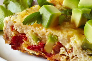 Avocado Artichoke and Sundried Tomato Frittata