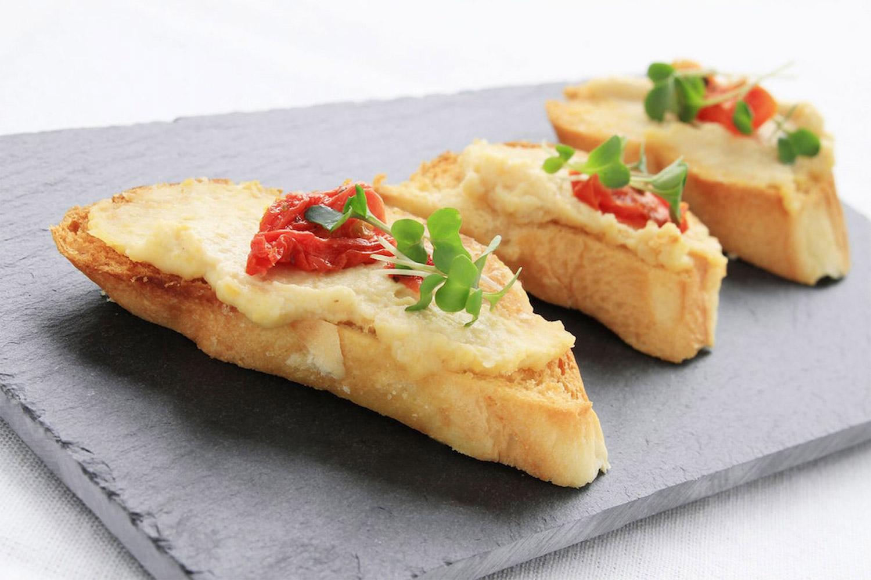 Salmon and Garbanzo Bean Toast