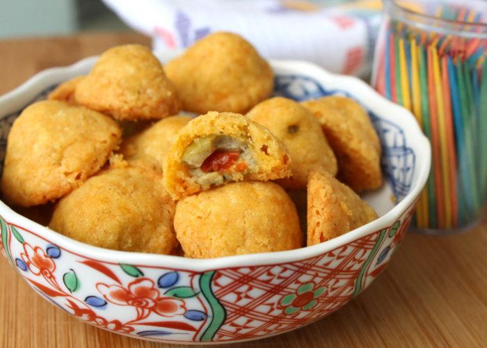 Baked Olive Cheeseballs, photo by Hispanic Kitchen