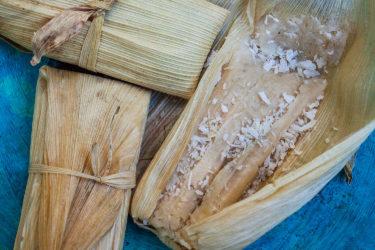 Tamales Dulces de Coco (Sweet Coconut Tamal)