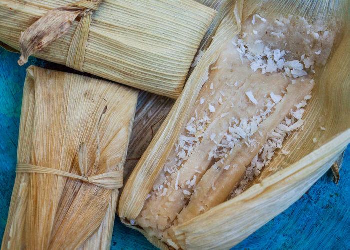 Tamales Dulces de Coco (Sweet Coconut Tamales), photo by Sonia Mendez Garcia