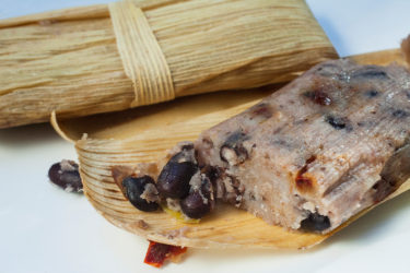 Black Bean Tamal with Chile Pasilla
