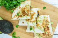 Black Beans, Beef and Avocado Quesadillas
