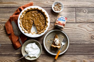 Chocolate Dulce de Leche Pecan Pie Recipe with Whipped Cream