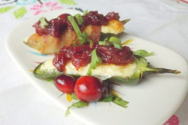 Jalapeño Poppers With Cranberry Bacon Jam, photo by Sonia Mendez Garcia