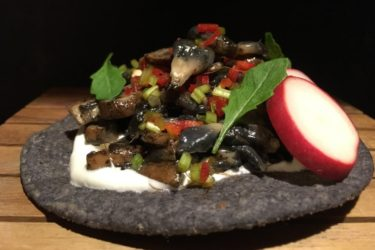 Mushroom Tostadas, photo by Hispanic Kitchen