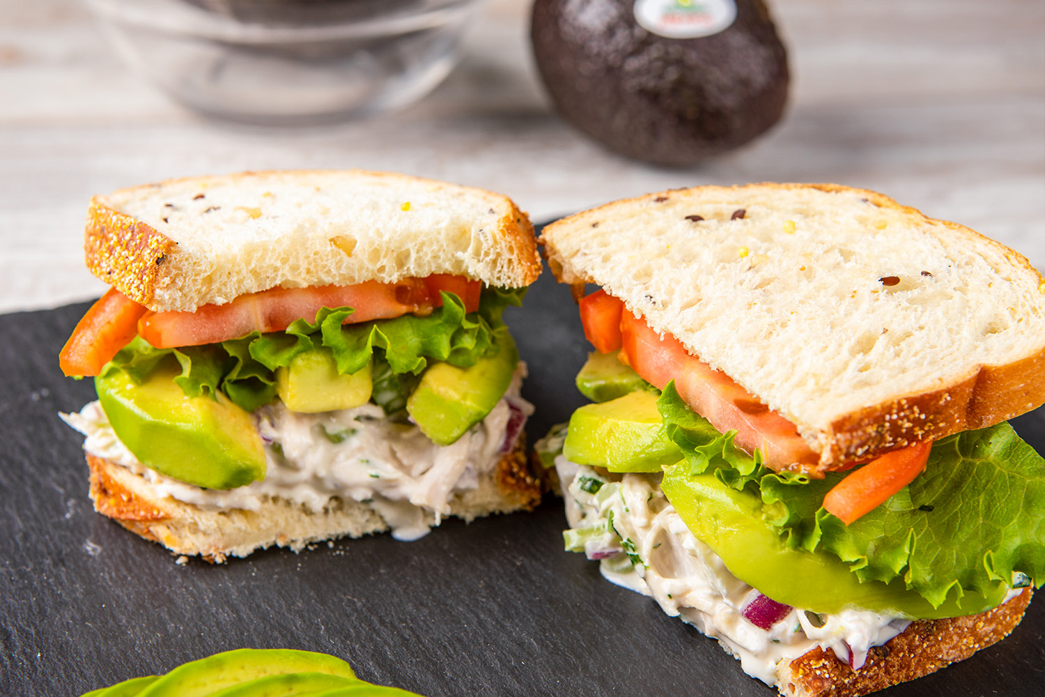 Apple and Avocado Chicken Salad Sandwich, photo by Avocados From Mexico