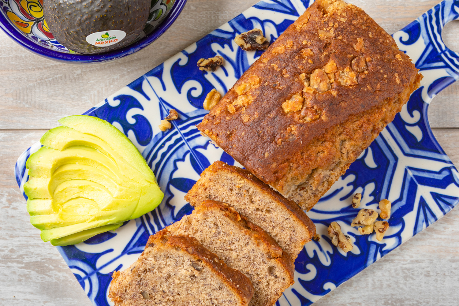 Gingerbread-Spiced Avocado Nut Bread, photo by Avocados From Mexico