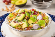 Avocado Grape Walnut Salad
