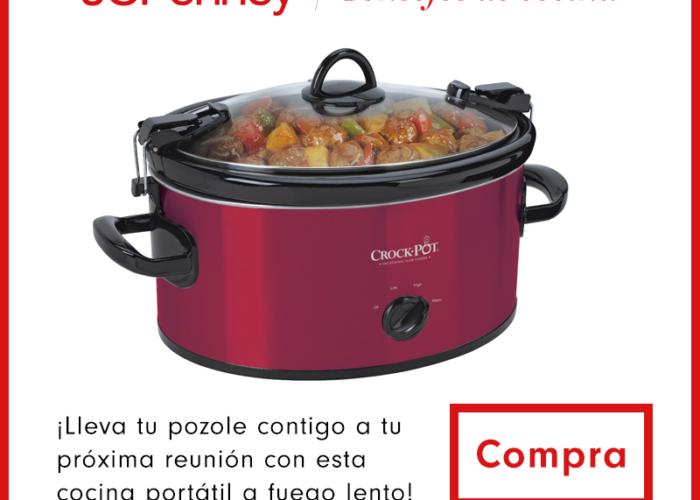 """Coloque todos los ingredientes en el orden indicado en una olla de cocción lenta (""""slow cooker"""") de 5 cuartos de galón. Cocine a fuego alto 5 horas o a fuego lento 8 horas."""