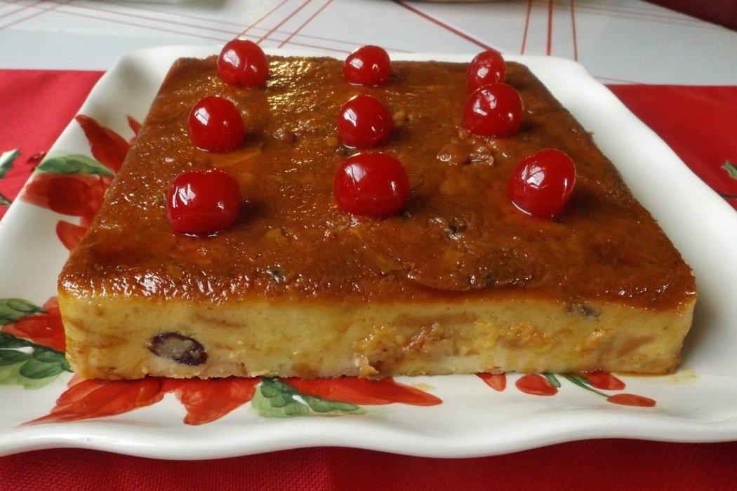 Budin de Pan Con Rompope (Bread Pudding)