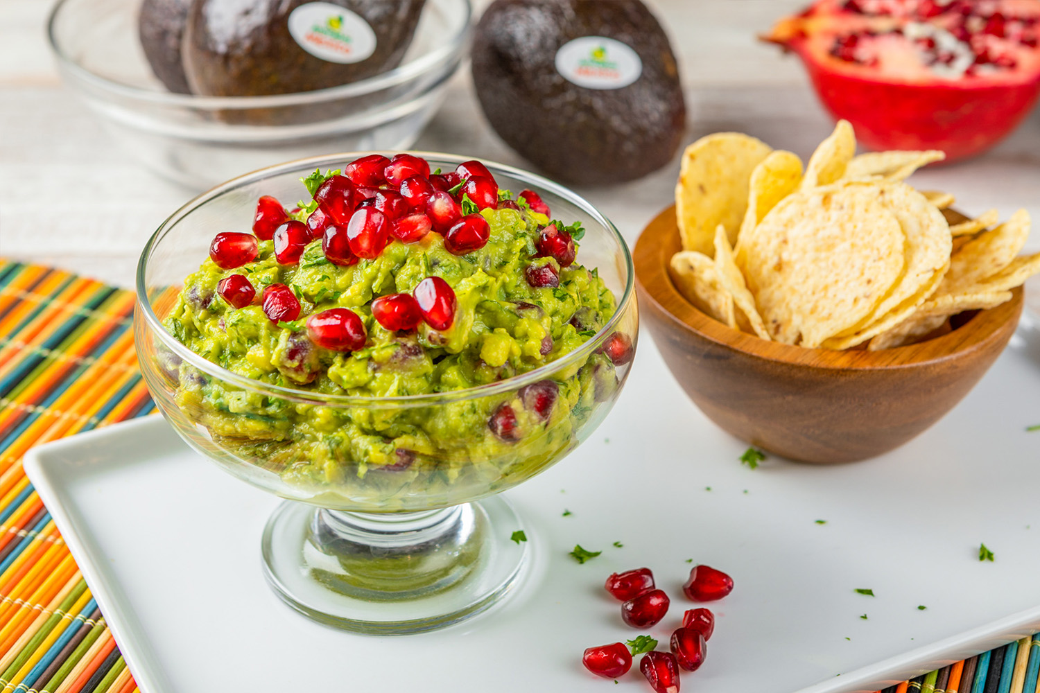 Pomegranate Guacamole, photo by Avocados From Mexico