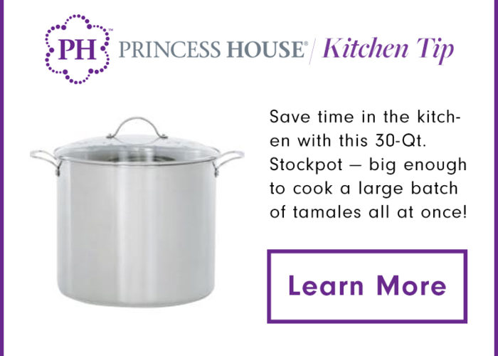 Set the steamer in a large pot filled with 2 inches of water. Arrange the tamales standing up in the steamer, folded-side down. Bring the water to a boil over medium-high heat, cover, and steam until the dough is firm, 45 to 50 minutes.  Add water when necessary.
