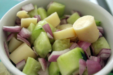 Aguachile de Palmito (Palm Heart Salad), photo by Hispanic Kitchen