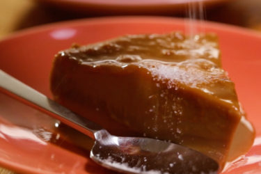Cajeta Chocolate Flan, photo by Fernanda Alvarez