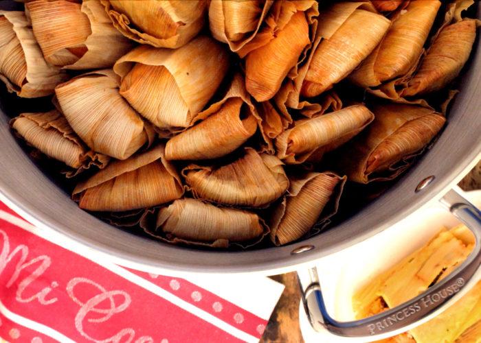 Tamales de cerdo, photo by Fernanda Alvarez