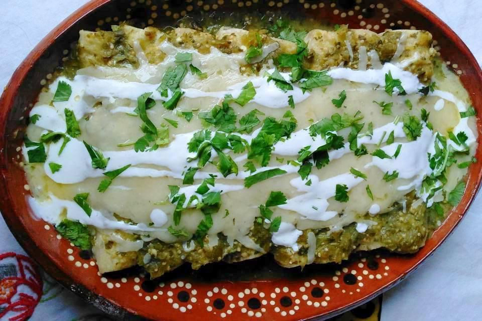 Enchiladas Suizas (Chicken Enchiladas)
