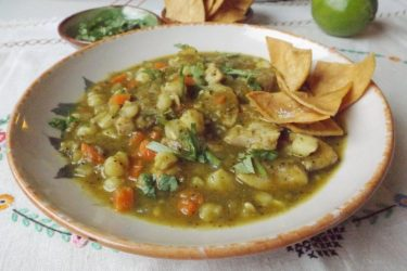 Green Chile Chicken Stew With Hominy, photo by Sonia Mendez Garcia