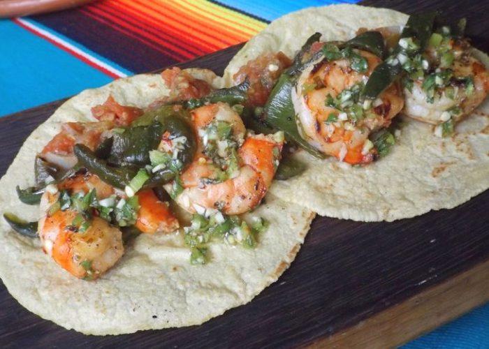 Poblano Shrimp Tacos, photo by Sonia Mendez Garcia