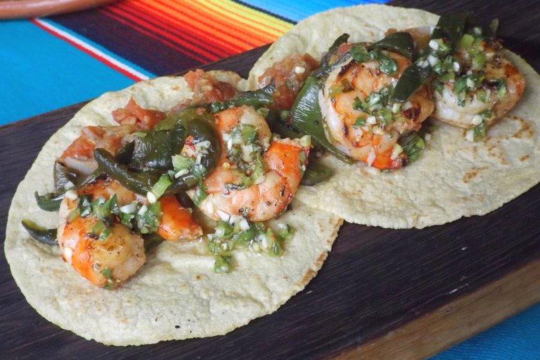 Poblano Shrimp Tacos (Tacos de Camaron)