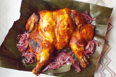 Pollo Pibil (Roast Chicken Yucatan Style)