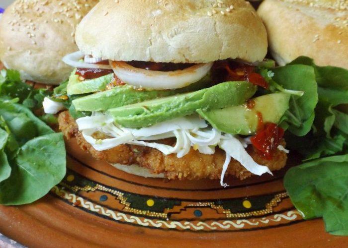 Cemita Poblana (Chicken Milanesa Sandwich), photo by Sonia Mendez Garcia