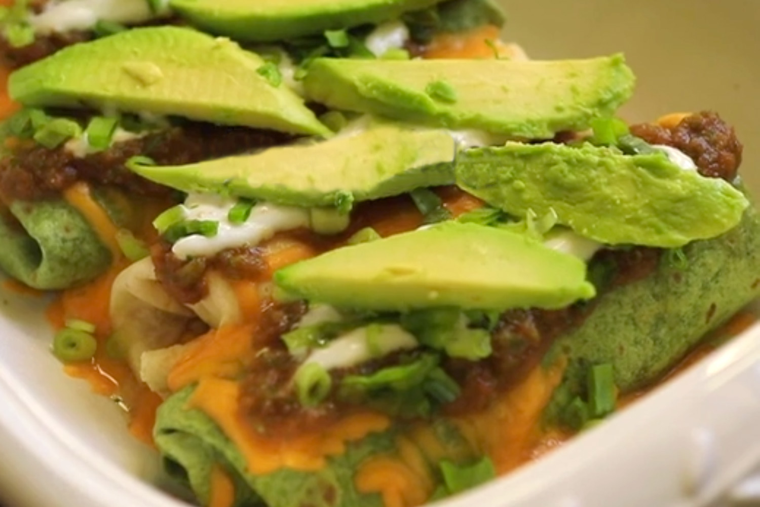Healthy Baked Chicken Chimichangas