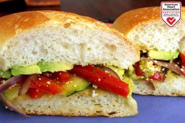 Avocado and Grilled Veggie Torta Recipe