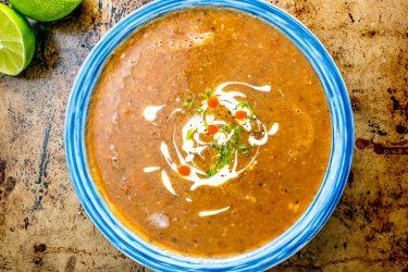 Sopa Tarasca (Pinto Bean Soup)